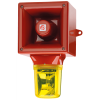 Оповещатель с проблесковый галогеновым маяком AB112RTHDC12R/G