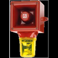 Оповещатель с проблесковый галогеновым маяком AB112RTHDC12R/Y