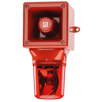 Оповещатель с проблесковым маяком AB105RTHDC12R/B