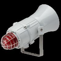 Сигнализатор сирена-маяк морского исполнения на светодиодах MCA112L1AC230G-BL