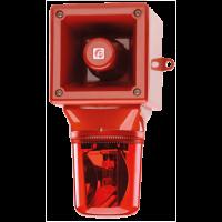 Оповещатель с проблесковым маяком AB105RTHDC24R/Y