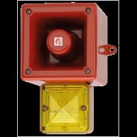 Оповещатель с функцией записи и ксеноновым маяком AL105NAXXDC024G/R-UL