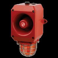 Оповещатель тревоги c ксеноновым маяком DL105XAC024G/R-P