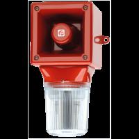 Оповещатель с ксеноновым стробоскопическим маяком AB105STRDC12R/Y