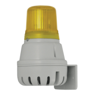 Звуковой оповещатель H100BL030G/Y со светодиодным маяком