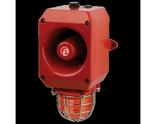 Искробезопасный оповещатель тревоги со светодиодным маяком IS-DL105L-R/R