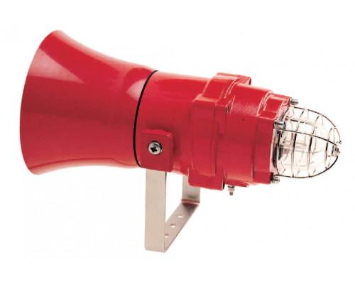Взрывозащищенный комбинированный громкоговоритель-маяк BEXCL1505D100V230-RD