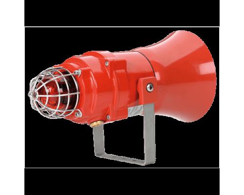 Взрывозащищенная комбинированная сирена-маяк BEXCS11005D24DC-RD-P