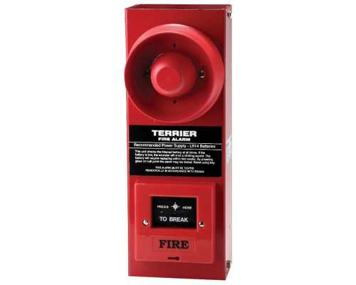 Klaxalarm Terrier, Red, Up to 98dB (A), 3, 6x LR14 batteries, N/A TBA-0003