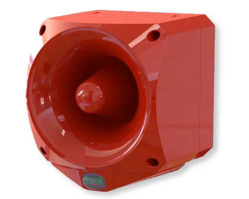 Nexus Pulse 105 Sounder Beacon, Red, White, 105 дБ(A), 17-60 VDC, 50mA, 70mA ENC-6001