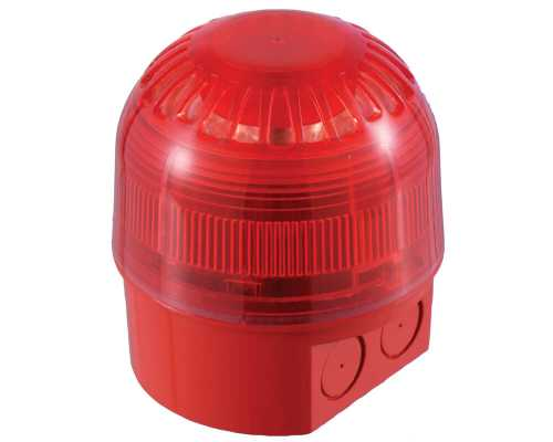 Sonos Sounder Beacon, Red deep base, Amber lens, до 106дБ (A), 32, 17-60V DC, 4-45mA, 5mA PSC-0027